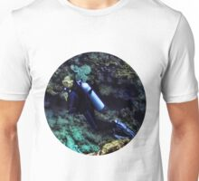 SCUBA DIVING - A WHOLE NEW WORLD UNDERWATER - VARIOUS APPAREL Unisex T-Shirt