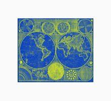 World Map (1794) Blue & Yellow Unisex T-Shirt