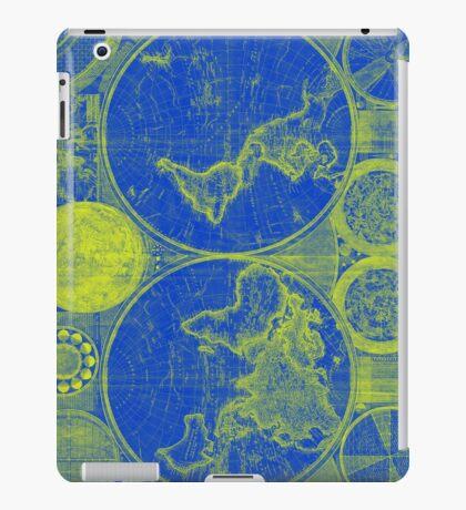World Map (1794) Blue & Yellow iPad Case/Skin
