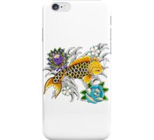 Swimming Koi on White iPhone Case/Skin