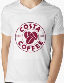 Costa Coffee Mens V-Neck T-Shirt