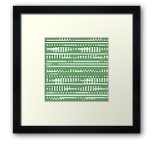 Bytes and Pieces green Framed Print