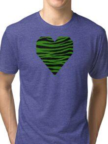 0448 Napier Green Tiger Tri-blend T-Shirt