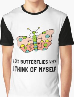 Butterfly Think Of Myself Graphic T-Shirt