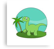 Cartoon Brontosaurus Canvas Print
