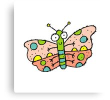 Cartoon Butterfly Canvas Print