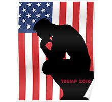 Trump The Thinker Poster