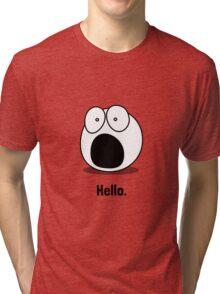Hello Cartoon Tri-blend T-Shirt
