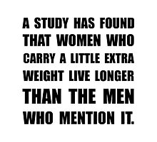 Study Found Extra Weight Photographic Print