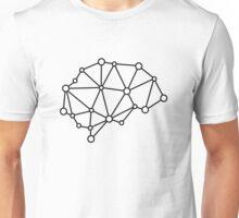 Transhuman Brain - Black on White Unisex T-Shirt