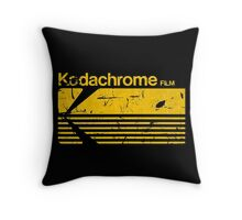 Vintage Photography: Kodak Kodachrome - Yellow Throw Pillow