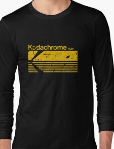 Vintage Photography: Kodak Kodachrome - Yellow Long Sleeve T-Shirt