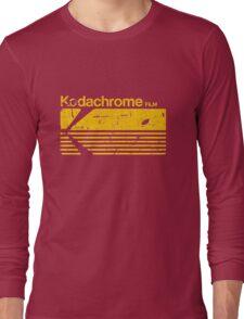 Vintage Photography: Kodak Kodachrome - Yellow Long Sleeve T-Shirt
