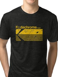 Vintage Photography: Kodak Kodachrome - Yellow Tri-blend T-Shirt