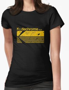 Vintage Photography: Kodak Kodachrome - Yellow Womens Fitted T-Shirt