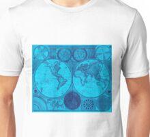 World Map (1794) Light Blue & Blue  Unisex T-Shirt