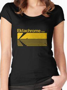 Vintage Photography: Kodak Ektachrome - Yellow Women's Fitted Scoop T-Shirt