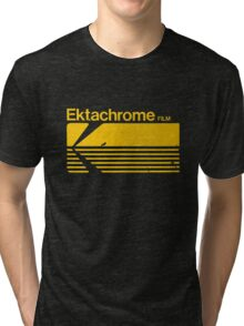 Vintage Photography: Kodak Ektachrome - Yellow Tri-blend T-Shirt