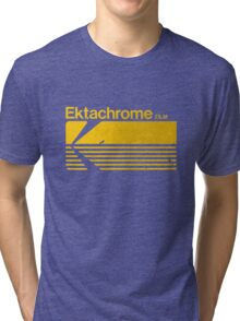 Vintage Photography: Kodak Ektachrome - Yellow Tri-blend T-Shirt