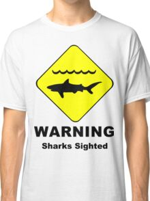 Sharks Sighted Symbol Classic T-Shirt