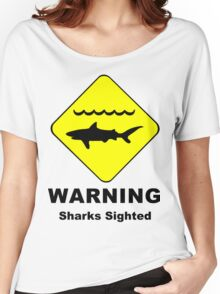 Sharks Sighted Symbol Women's Relaxed Fit T-Shirt