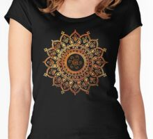 Decorative Indian Sun  Women's Fitted Scoop T-Shirt