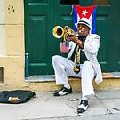 Trumpet Street Performer in Havana by Robert Kelch, M.D.