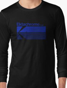 Vintage Photography: Kodak Ektachrome - Blue Long Sleeve T-Shirt
