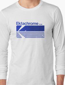 Vintage Photography: Kodak Ektachrome - Blue Long Sleeve T-Shirt