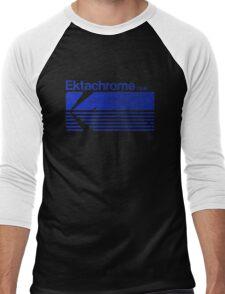 Vintage Photography: Kodak Ektachrome - Blue Men's Baseball ¾ T-Shirt