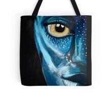 Blue oil pastel inspired by Avatar Tote Bag