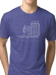 Vintage Photography - Graflex Blueprint (Version 2) Tri-blend T-Shirt