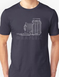 Vintage Photography - Graflex Blueprint (Version 2) Unisex T-Shirt