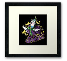 Why So Genius? Framed Print