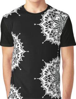 White Sacred Geometry  Graphic T-Shirt