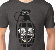 """""""Why Can't  We Be Friends"""" Grenade Unisex T-Shirt"""