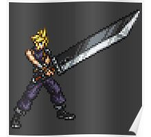 FFRK Boss Sprite - Cloud Strife (FF7) Poster