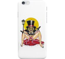 JACK THE RIPPER on white iPhone Case/Skin