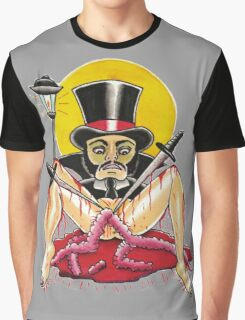 JACK THE RIPPER on white Graphic T-Shirt