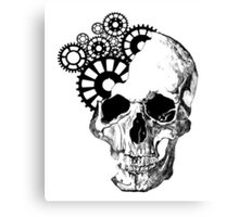 Clockwork Skull Canvas Print