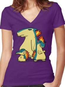 Number 155, 156 and 157 Women's Fitted V-Neck T-Shirt