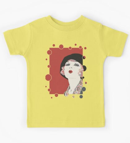 Kiss from a flapper girl, retro 1920s jazz age style Kids Tee