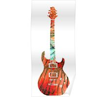 Electric Guitar 2 - Buy Colorful Abstract Musical Instrument Poster