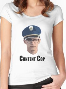 Content Cop Women's Fitted Scoop T-Shirt