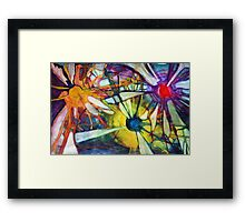 Color Kapow! Framed Print
