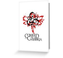 coheed and cambria The Second Stage Turbine Blade Greeting Card