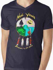 NEIL YOUNG Mens V-Neck T-Shirt
