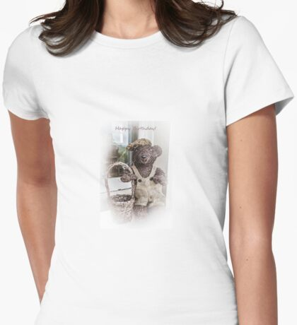 Teddy Bear Picnic Womens Fitted T-Shirt