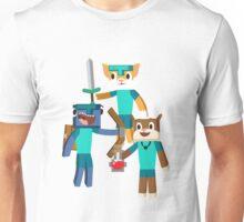 Minecraft Youtuber Stampy Cat, iBallisticsquid, L for Lee x Unisex T-Shirt