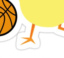 Basketball Chick Sticker